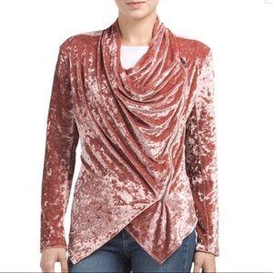 Blank NYC Crushed Velvet Drape Moto Jacket